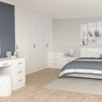 White textured Chester Bedroom Furniture
