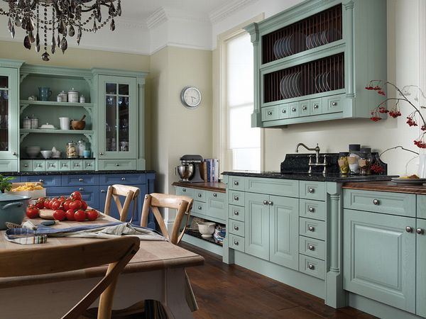 Cornell China Blue And Cornflower Painted Kitchen Interior Designs North East