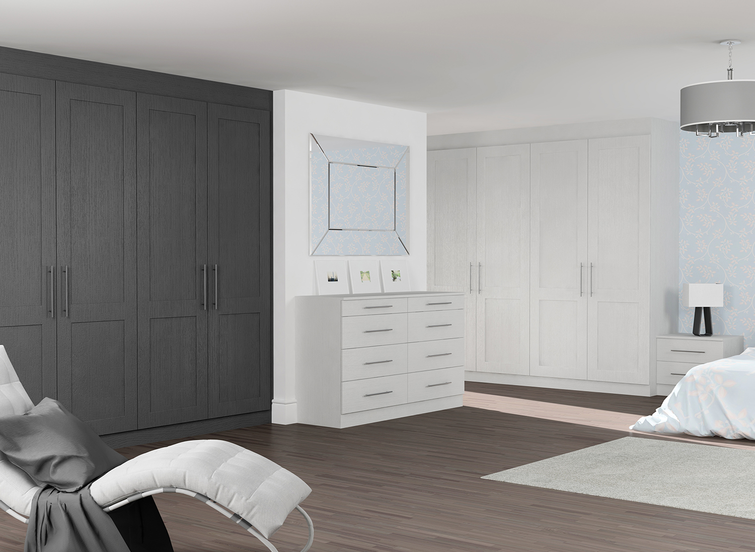 Graphite Oak Ligth Grey Ok Bedroom