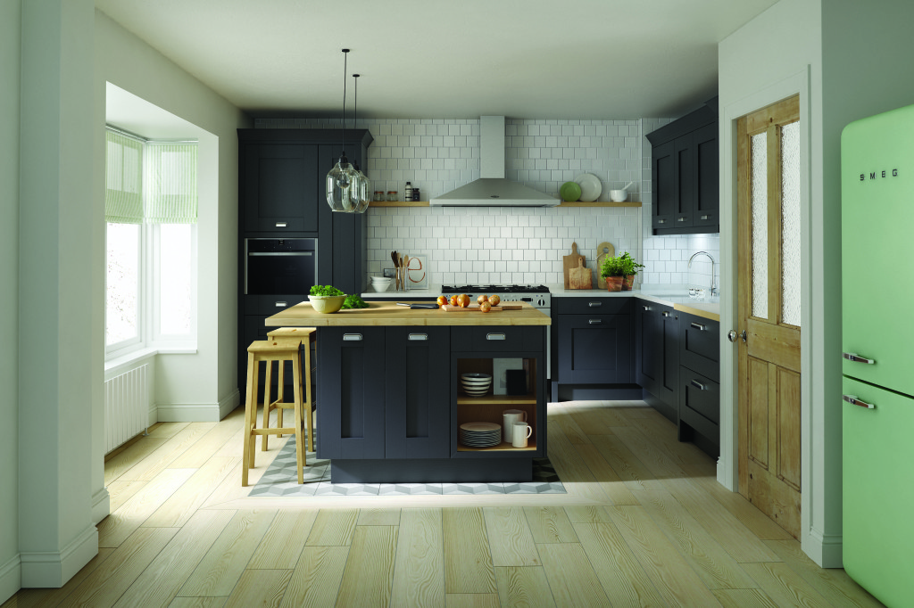 Milbourne charcoal painted kitchen interior designs north east