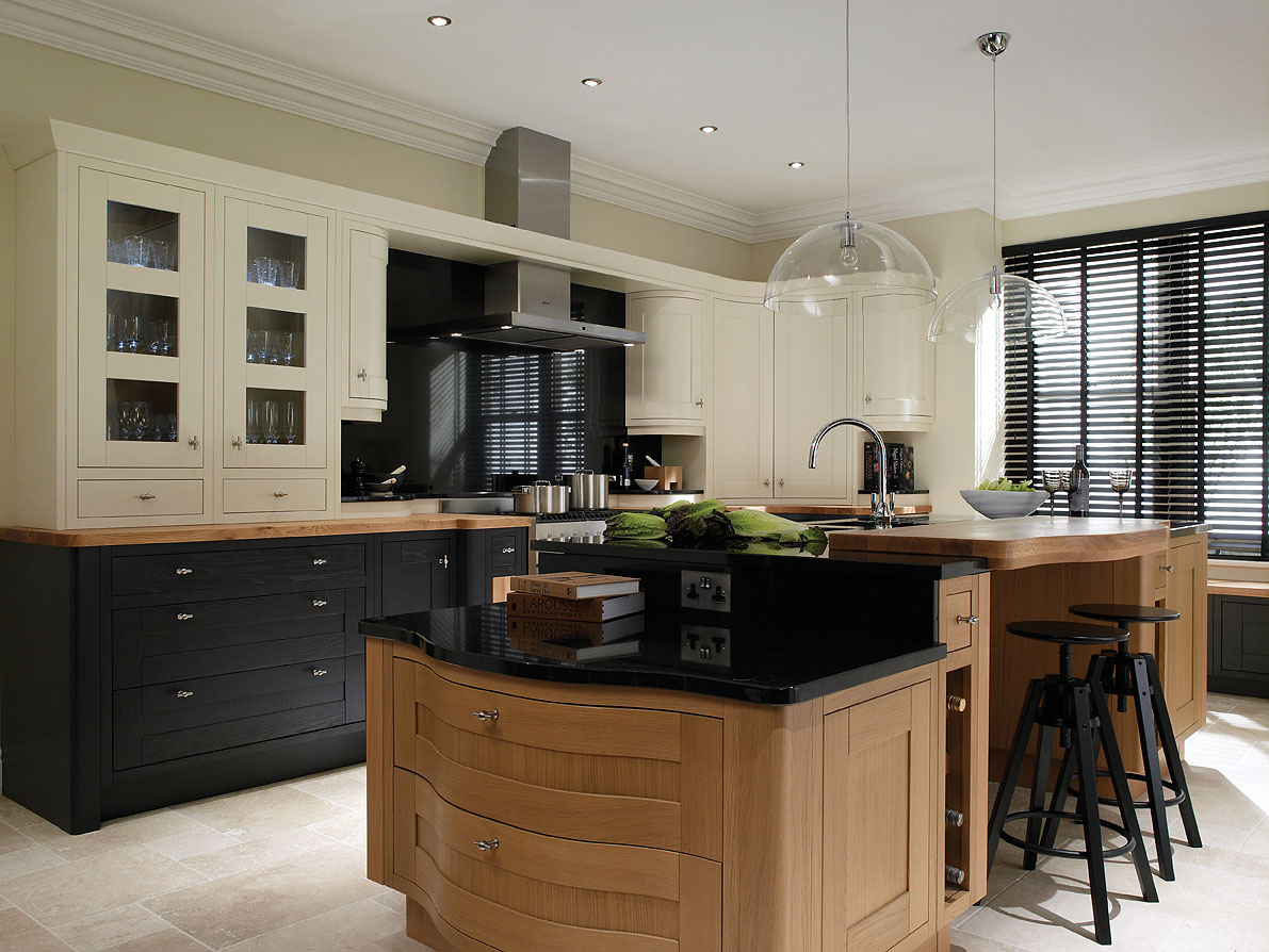 Milton charcoal and oak in frame kitchen interior for Period kitchen design