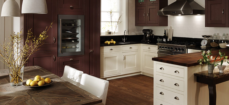 Milbourne In Frame Damson And Alabaster Painted Kitchen Interior Designs North East
