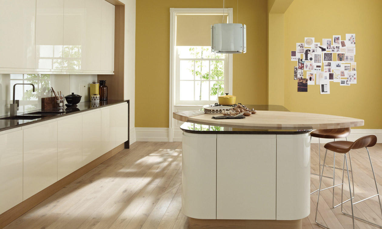 Handless kitchen collection matt gloss paint to order for Interior designs ne ltd