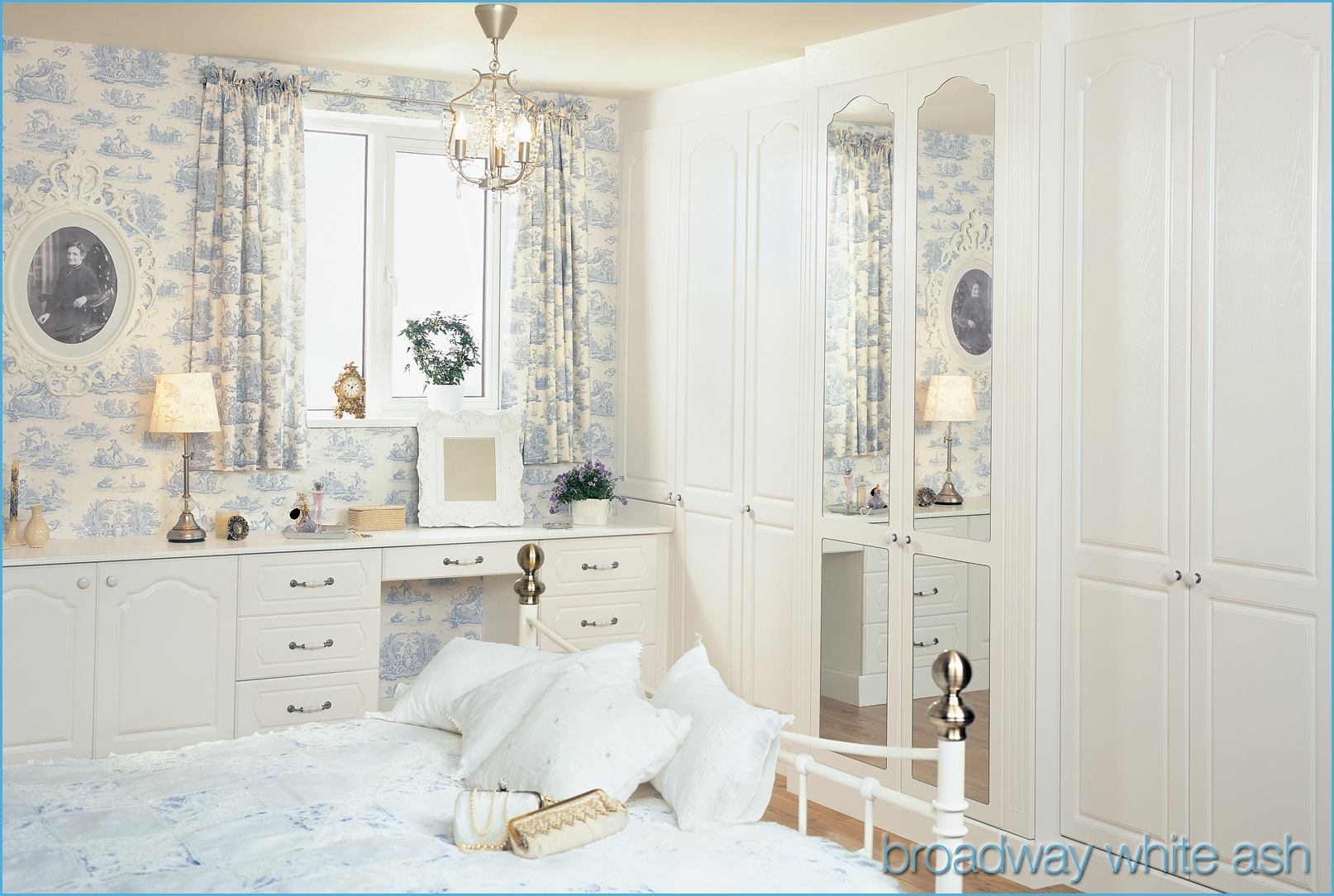 White bedroom white ash broadway fitted bedroom for Broadway bedroom ideas