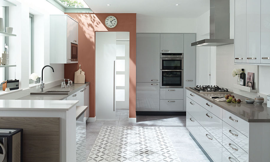 Porter Dove Grey Gloss Kitchen Interior Designs North East