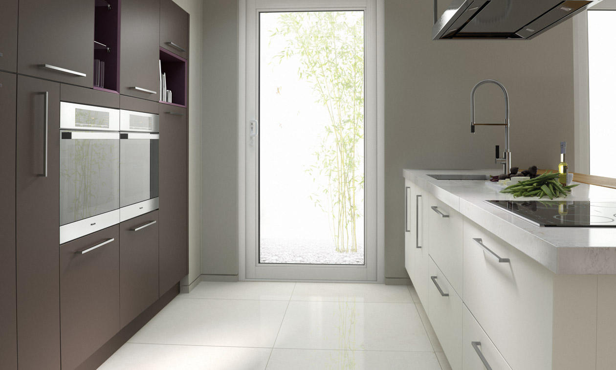 Inzo Matt Lava Gloss Porcelain Kitchen Interior Designs North East