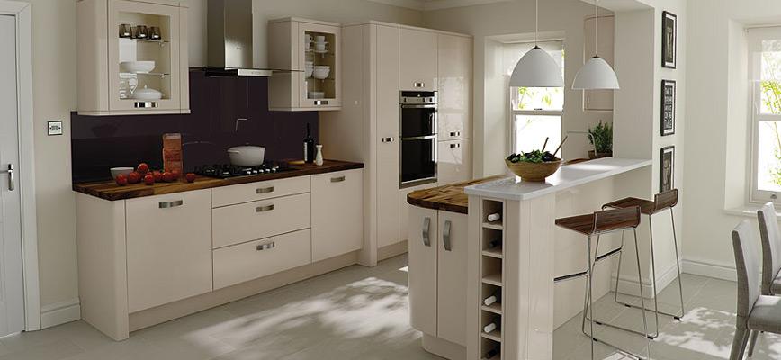 Porter Alabaster Gloss Kitchen Interior Designs North East