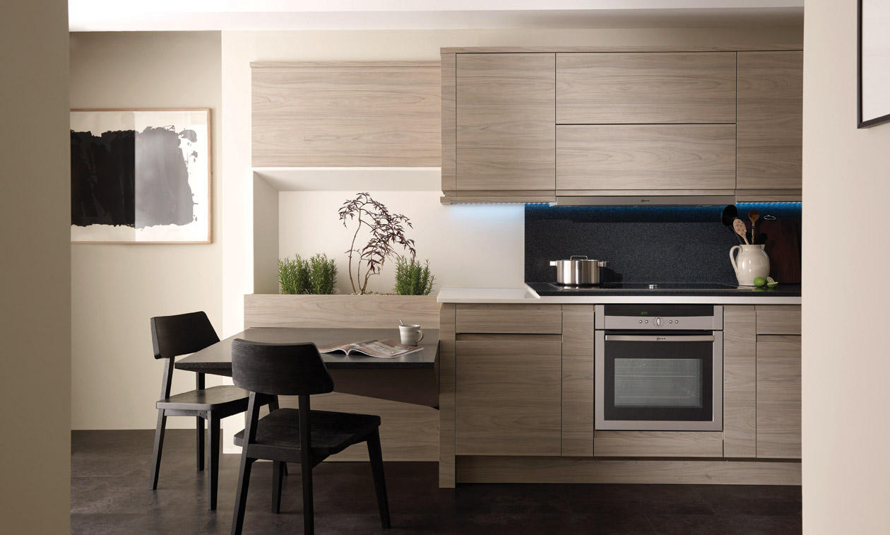 Remo handless elm kitchen interior designs north east for Interior designs ne ltd