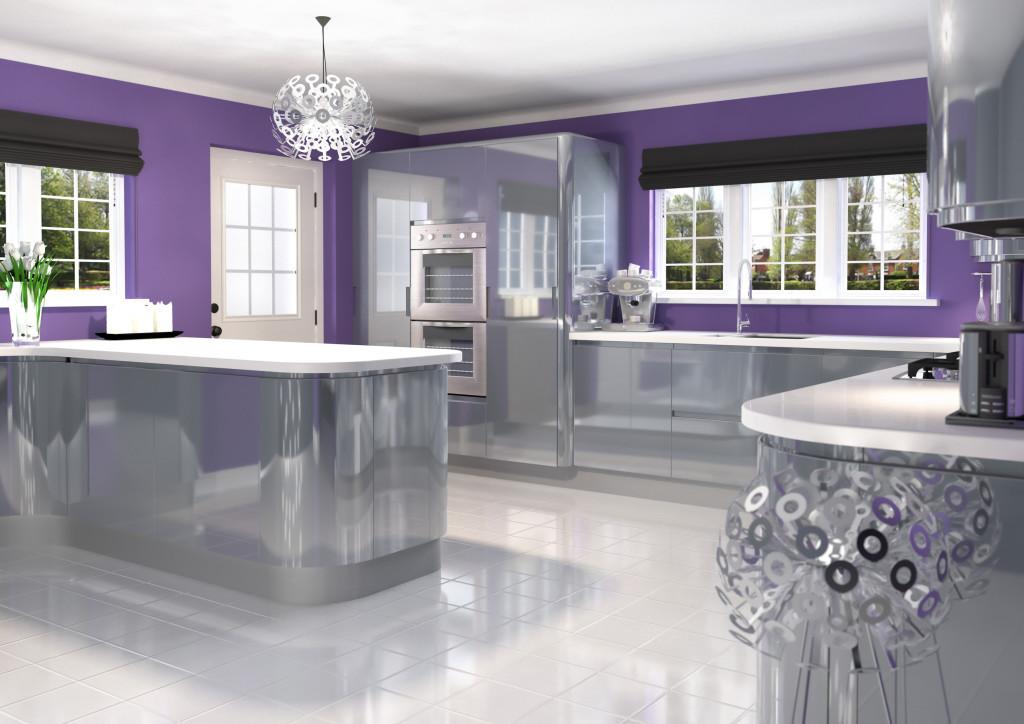 Jazi Silver Grey Handless Kitchen Interior Designs North East