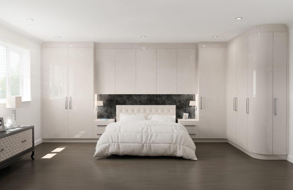 glacier high gloss cashmere bedroom furniture   interior