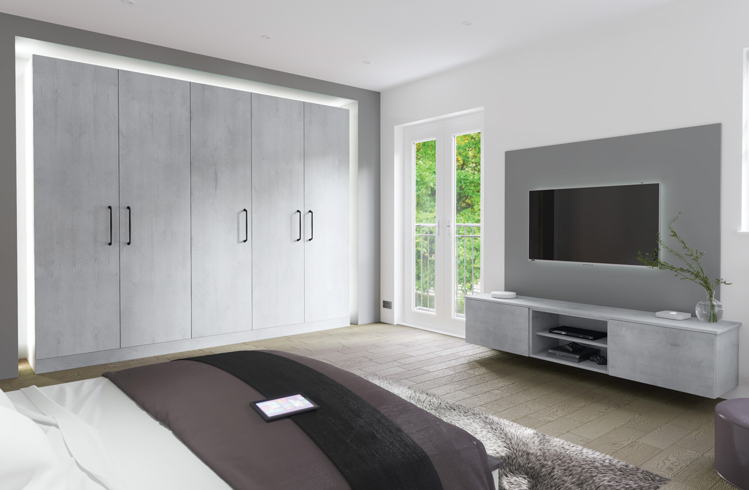 Boston concrete industrial fitted bedroom sunderland made to order for Boston interiors bedroom furniture